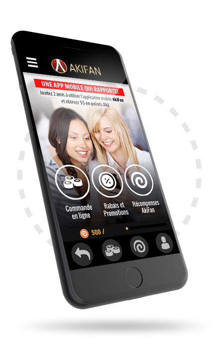 Téléphone intelligent et application