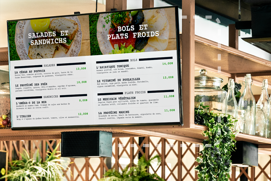 iShopFood - L'affichage numérique pour un menu dynamique